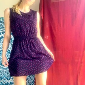 FOREVER 21 L coffee beans printed dress